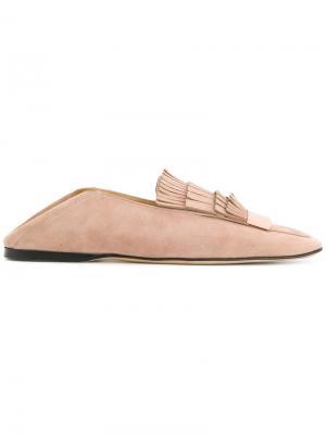 Fringed loafers Sergio Rossi. Цвет: розовый и фиолетовый