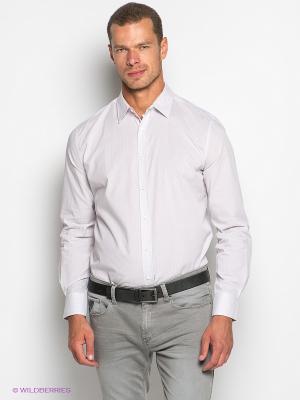 Рубашка TOM FARR. Цвет: белый, темно-бежевый