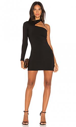 Платье с одним плечом norah Susana Monaco. Цвет: черный