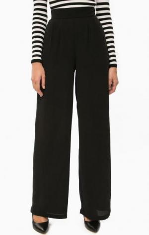 Черные расклешенные брюки ALCOTT. Цвет: черный
