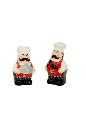 Набор: солонка и перечница Chef BOSTON. Цвет: красный