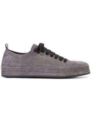 Classic lace-up sneakers Ann Demeulemeester. Цвет: серый