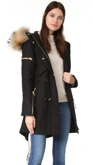 Шерстяное пальто Delancey SAM.. Цвет: черный/натуральный