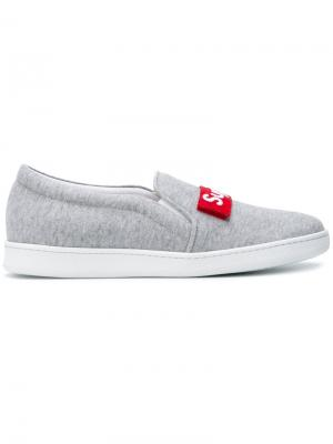 Super slip-on sneakers Joshua Sanders. Цвет: серый
