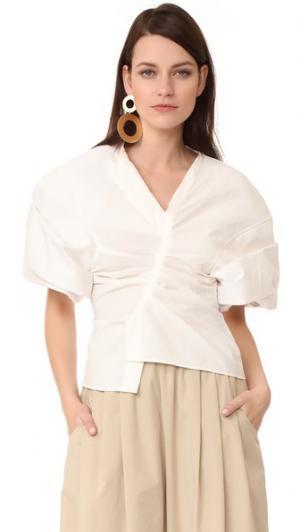Блуза с короткими рукавами Jacquemus. Цвет: белый
