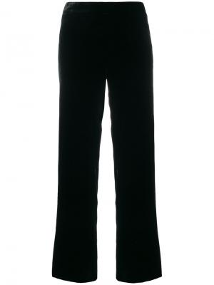Бархатные широкие брюки LAutre Chose L'Autre. Цвет: чёрный
