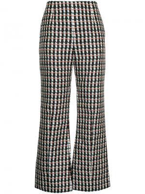Укороченные расклешенные брюки Marni. Цвет: чёрный