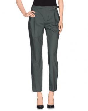Повседневные брюки PINKO UNIQUENESS. Цвет: зеленый-милитари