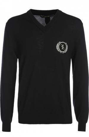 Вязаный пуловер Billionaire. Цвет: черный