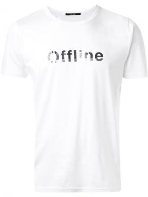 Футболка с принтом offline Hl Heddie Lovu. Цвет: белый