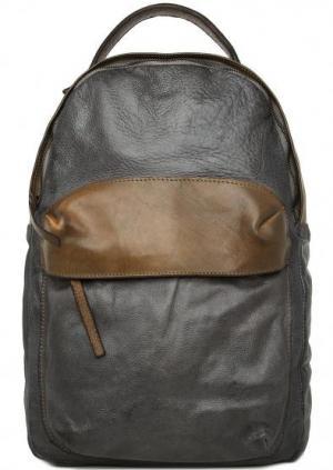 Вместительный рюкзак из натуральной кожи Alchimia. Цвет: серый