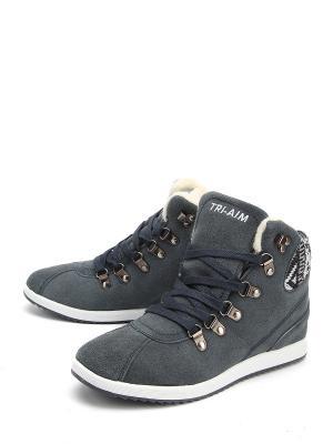 Ботинки TRI-AIM. Цвет: серый