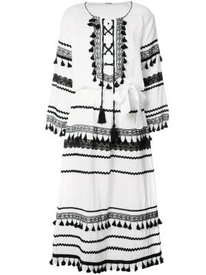 Платье Malka Dodo Bar Or. Цвет: белый