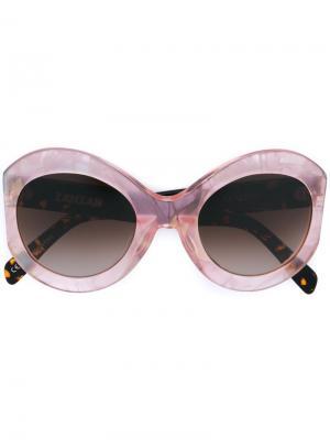 Солнцезащитные очки Le Tabou Zanzan. Цвет: розовый и фиолетовый