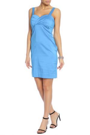 Платье на бретелях средней длины Caractere. Цвет: синий