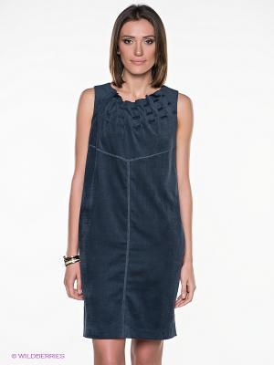 Платье Gouache. Цвет: темно-синий
