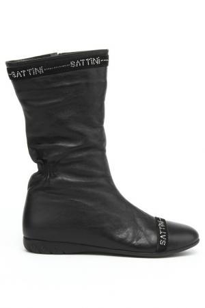 Полусапожки Sattini. Цвет: черный