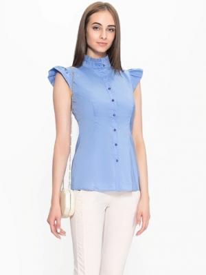 Блузка PAOLA MORENA. Цвет: голубой