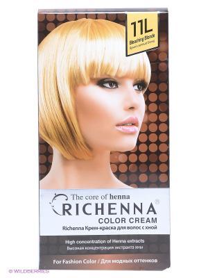 Крем-краска для волос с хной №11L (Bleaching Blonde) Richenna. Цвет: светло-желтый