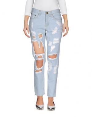 Джинсовые брюки REVERSE. Цвет: синий