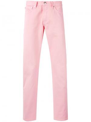 Джинсы Erik Soulland. Цвет: розовый и фиолетовый