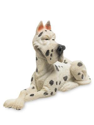 Фигурка Собака Мраморный дог The Comical World of Stratford. Цвет: белый, черный