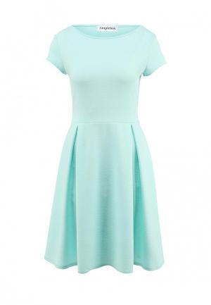 Платье Amplebox. Цвет: бирюзовый