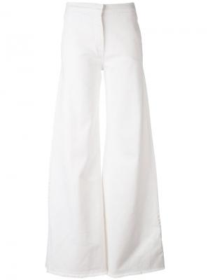 Flared trousers Federica Tosi. Цвет: белый