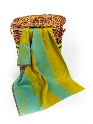 Полотенце ARLONI. Цвет: бирюзовый, зеленый