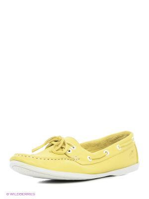 Мокасины El Tempo. Цвет: желтый