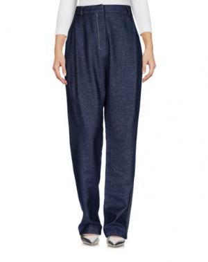 Джинсовые брюки MEM.JS. Цвет: синий