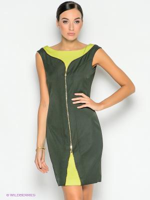 Платье Versace. Цвет: темно-зеленый