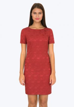 Платье Emka. Цвет: красный