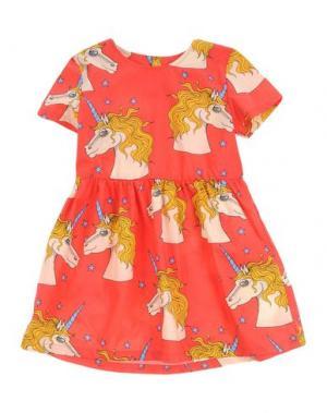Платье MINI RODINI. Цвет: красный