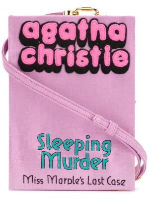 Клатч Sleeping Murder Olympia Le-Tan. Цвет: розовый и фиолетовый