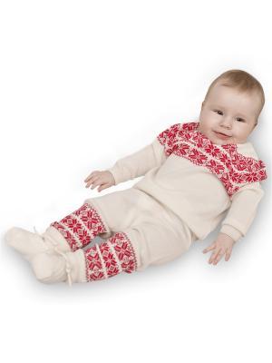 Комплект: джемпер, штанишки. R&I. Цвет: красный