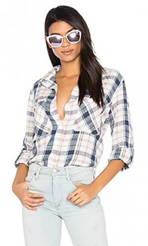 Рубашка с застёжкой на пуговицах steady boyfriend Sanctuary. Цвет: белый