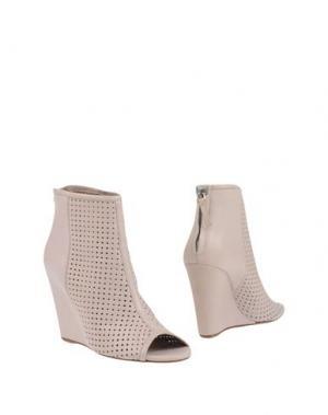 Полусапоги и высокие ботинки JULIE DEE. Цвет: светло-серый