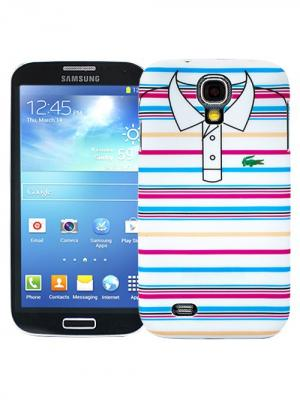 Чехол для Samsung Galaxy S4 Blue and pink stripes, серия Sports shirt Kawaii Factory. Цвет: розовый, синий