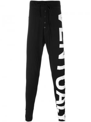 Спортивные брюки с графическим принтом Barbara I Gongini. Цвет: чёрный