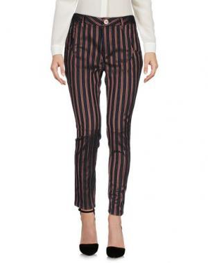 Повседневные брюки MANILA GRACE. Цвет: стальной серый