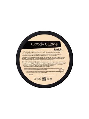 Угольный гель-скраб Sunlight Woody Village. Цвет: белый