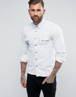 Nudie Jeans Выбеленная джинсовая рубашка Co Jonis Summer. Цвет: синий