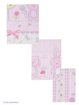 Комплект Акварель Сонный гномик. Цвет: белый, розовый