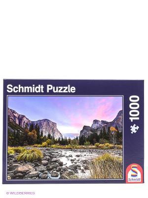 Пазл Горы мира Schmidt. Цвет: голубой, коричневый