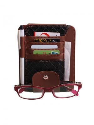 Органайзер для документов и очков на козырек Blonder Home. Цвет: коричневый