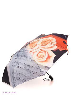 Зонт Flioraj. Цвет: черный, молочный