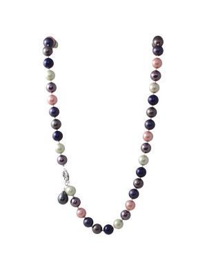 Колье-трансформер Dolce Vita из цветного жемчуга (майорка) Магазин браслетов. Цвет: темно-синий, антрацитовый, бледно-розовый, зеленый, индиго, молочный, оливковый, розовый, светло-серый, серебристый, синий