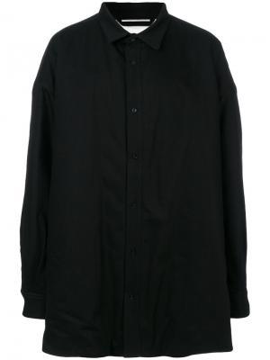 Классическое пальто Raf Simons. Цвет: чёрный