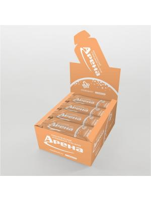 Углеводный гель Арена Первая с кофеином, со вкусом грейпфрута, 24 штуки в упаковке. Цвет: желтый